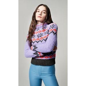 Smythe x Augden Lopi Handknit Sweater in Violet